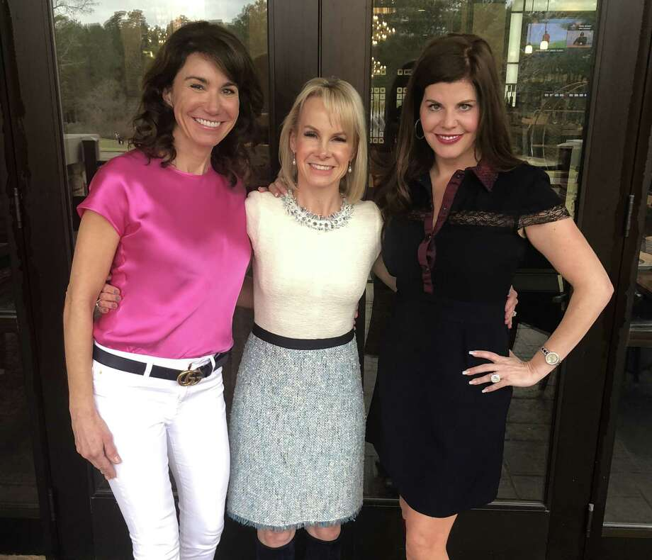 """The Montgomery County Women's Center will hold """"Open Your Purse for Change"""" event on Feb. 22 from 11 - 2 at The Woodlands Country Club - Legacy Ballroom. Pictured from left to right are event chairAlly Seder (center) and event co-chairs Angie Signorelli (left) and Shirelle Chimenti (right). Photo: Courtesy Photo"""