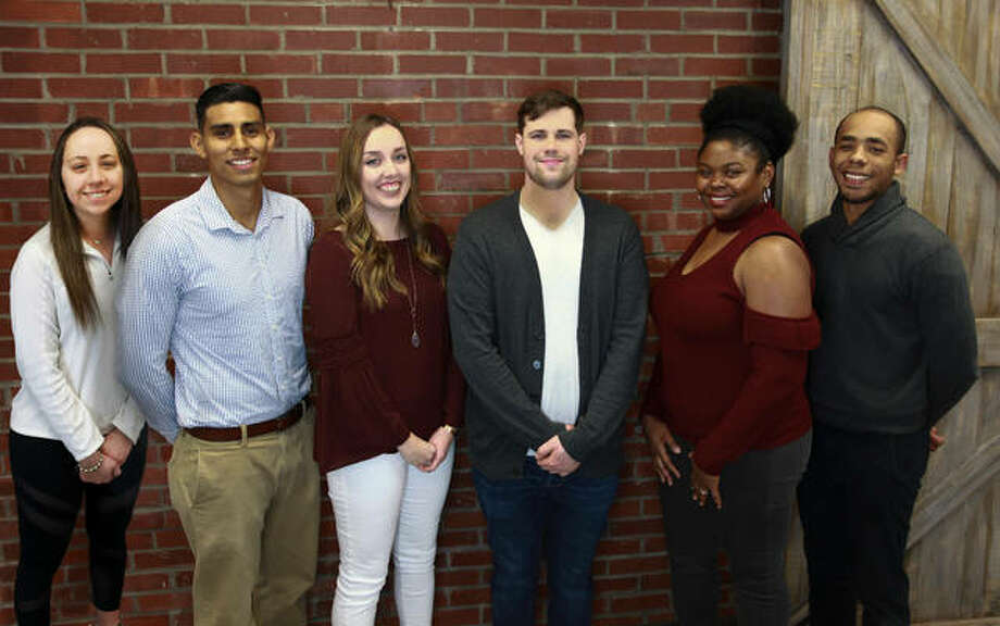 The Get to know m.e. campaign has announced the 2018 scholarship recipients, including: Alyssa Range of Southwestern Illinois College, Clayton Aden of Southern Illinois University Edwardsville (SIUE), Louis Jones of SIUE, Madison Phelps of SIUE, Manuel Gomez of SIUE, and Rachell Crayton of Lindenwood University. Photo: For The Intelligencer