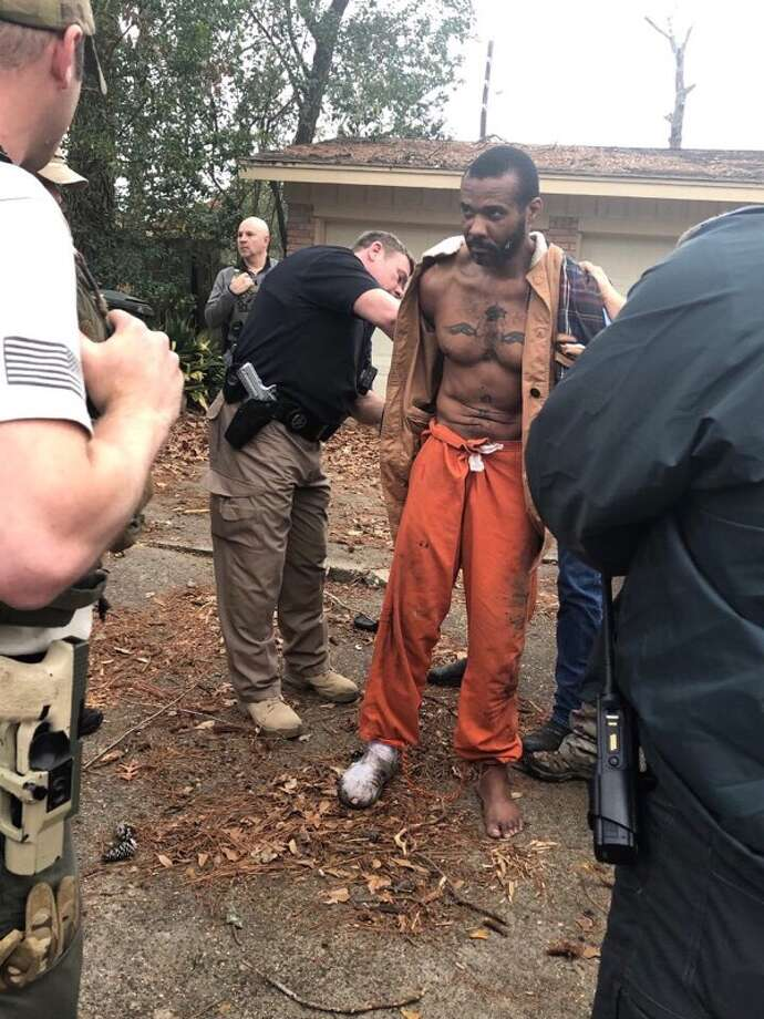 """Cedric Joseph Marks, an MMA fighter who was described as an """"extremely dangerous"""" inmate, escaped custody while he was being extradited to Bell County in Texas. He was eventually re-captured after a day-long manhunt. >>> See more details about Marks and his charges Photo: City Of Conroe"""
