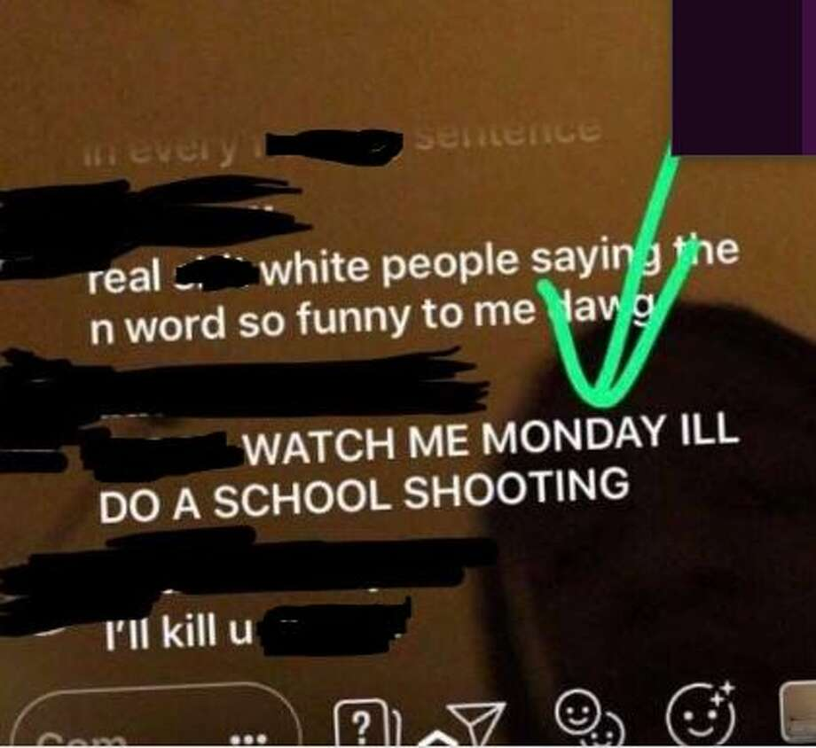 A Katy High School student made a gun threat over the weekend and Katy ISD officials acted. (the social media post has been edited due to inflammatory language) Photo: Instagram