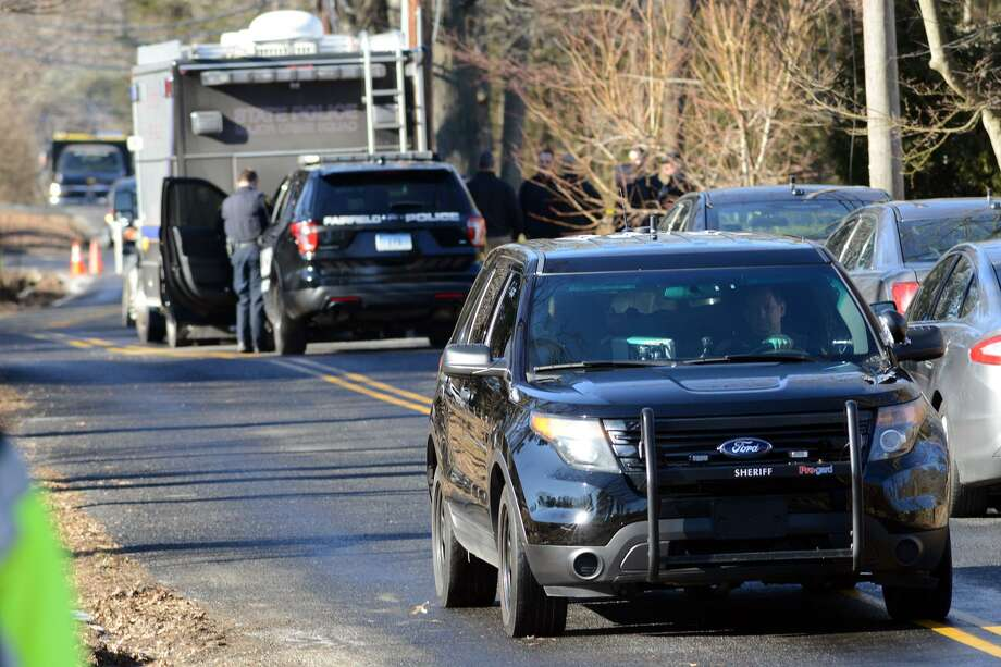 The scene looking down Catamount Rd., in Fairfield, Conn. Feb. 4, 2019. James Taylor, 75, of Fairfield, is accused of shooting his ex-wife, Catherine, 70, to death inside her home on Catamount on Feb. 3. Photo: Ned Gerard / Hearst Connecticut Media / Connecticut Post