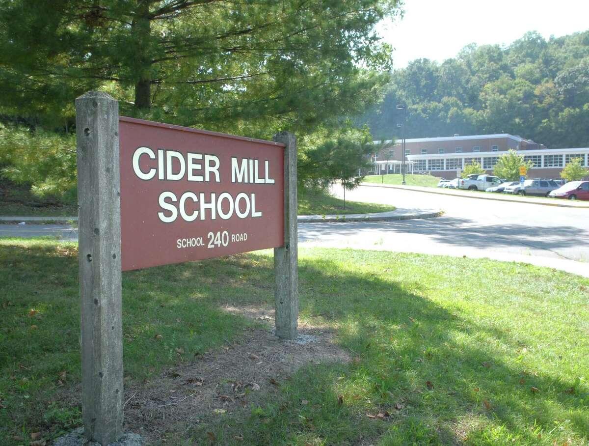 Exterior of Cider Mill School in Wilton.