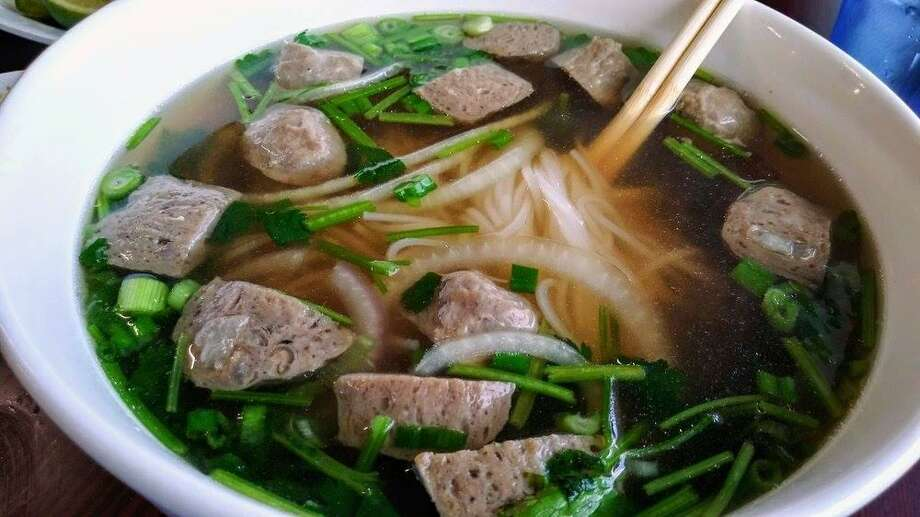 Pho Dien 1960 is located at 9411 FM 1960 Bypass Rd. W, Suite 600, next to Norman's Dueling Pianos. The restaurant was ranked 58 out of 100 on Yelp's latest list of best places to eat. Photo: Courtesy Of Pho Dien 1960