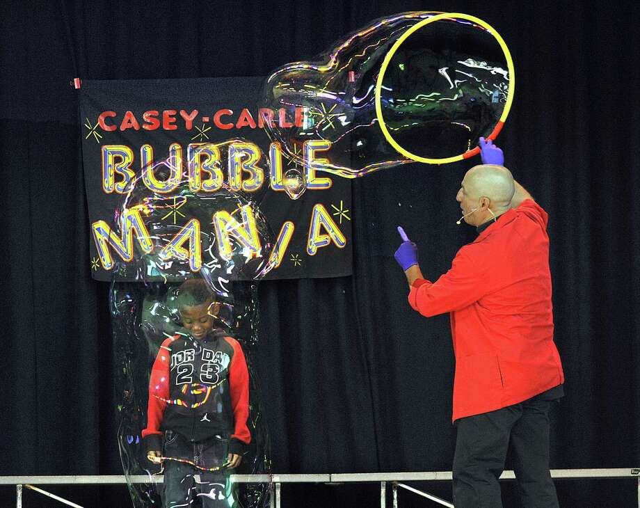 "Casey Carle brings his traveling ""BubbleMania"" show to Stamford's Palace Theatre Feb. 16-17. Photo: Hearst Connecticut Media Fikle Photo / The News-Times"