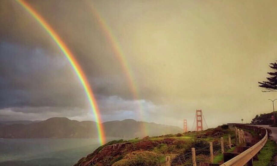 @brukdahl captured this rainbow over the Golden Gate Bridge. Rainbows graced the skies over the Bay Area during the latest round of storms. Photo: Instagram /