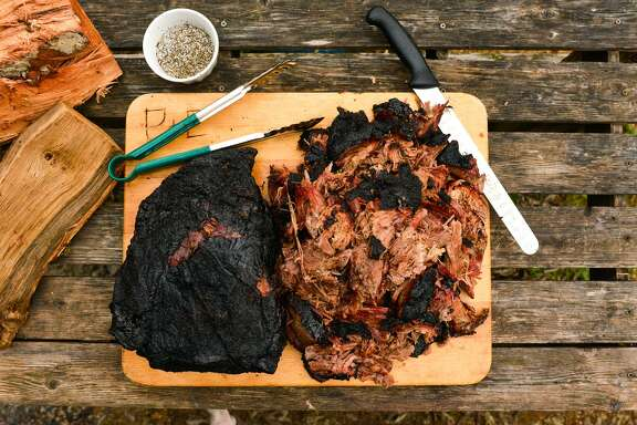 Smoked beef shoulder clod from Chuck's Food Shack. Shoulder clod is a large cut of beef that used to be the most popular form of barbecue in Texas.