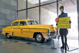 "The McNay Art Museum is raffling off a 1953 New York taxi, which before being raffled off will be a part of the museum's ""American Dreams: Classic Cars and Postwar Paintings"" exhibit."