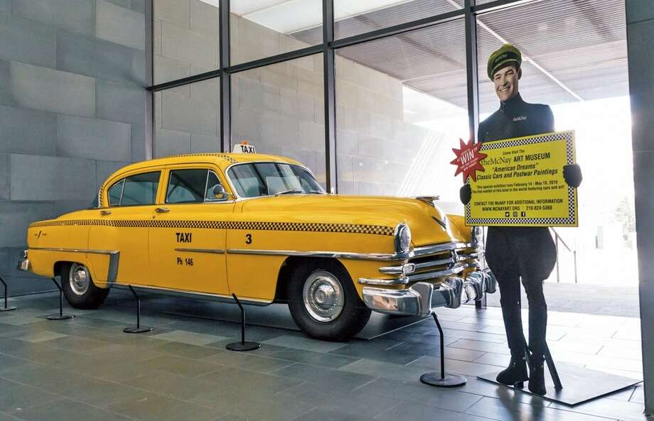 "The McNay Art Museum is raffling off a 1953 New York taxi, which before being raffled off will be a part of the museum's ""American Dreams: Classic Cars and Postwar Paintings"" exhibit. Photo: Courtesy Of McNay Art Museum"