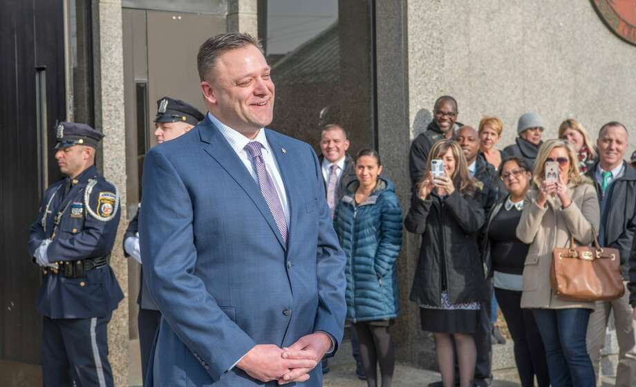 Detective James Olsen retires from the Albany Police Department.Olsen, 44, retired in January 2019, after 22 years on the force. (Albany Police Department spokesman Steve Smith's Twitter account)