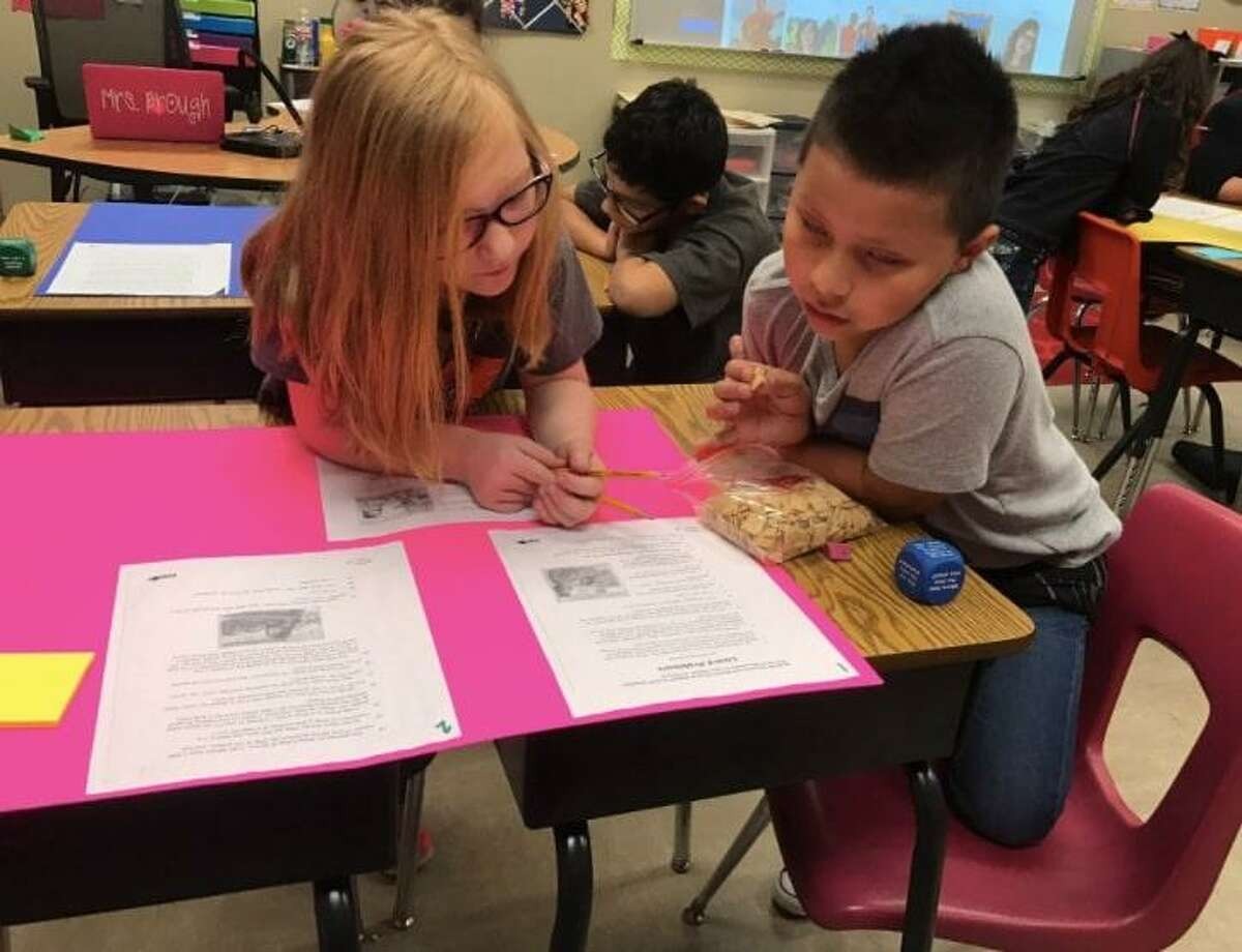 Crosby ISD students work on a assignment.