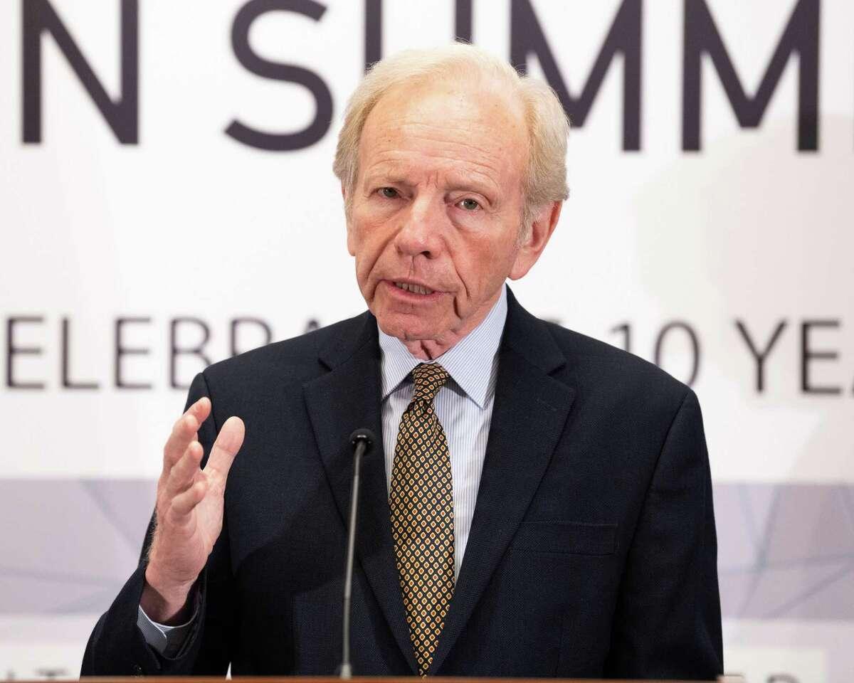 Joe Lieberman, former U.S. Senator (I-CT), at the United Against Nuclear Iran (UANI) 2018 Iran Summit in New York City, New York on September 25, 2018.