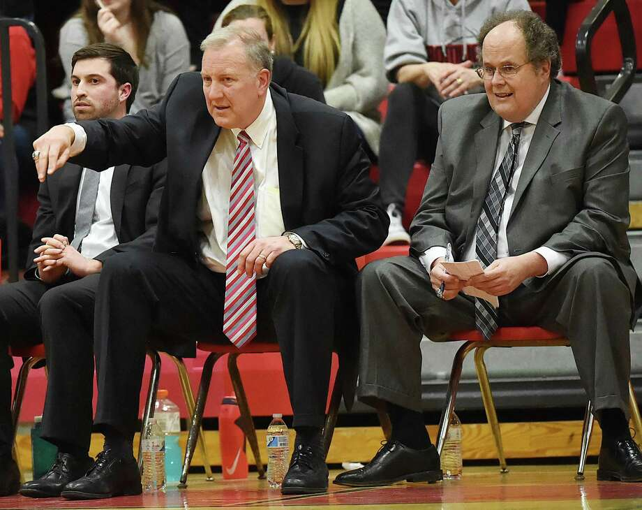 Coach John Pinone and the Cromwell boys basketball team is off to a 16-0 start. Photo: Catherine Avalone / Hearst Connecticut Media / New Haven Register