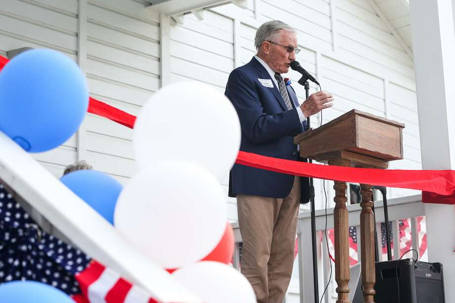 George Strake Jr. speaks during the grand opening of the Strake Gray Oilhouse on Friday, June 9, 2017, at the Heritage Museum. The Strake Gray Oilhouse will have its floors refurbished and the home will be leveled as it has settled after being moved to the complex in 2015. Photo: Michael Minasi, Staff Photographer / Houston Chronicle / © 2017 Houston Chronicle