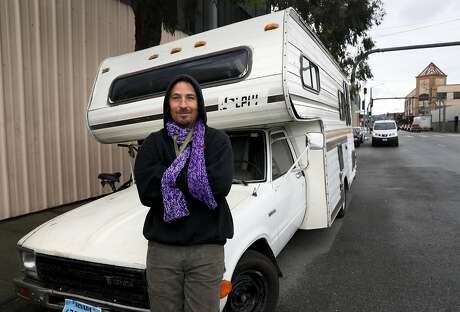 "Richard ""Dickie"" Haskell, 41, poses for a portrait near the corner of Michigan and Cesar Chavez in San Francisco, Calif., on Friday, February 1, 2019. Haskell lives in his RV. City Supervisor Vallie Brown is proposing legislation designed to help people camping in their cars and RV campers. Photo: Yalonda M. James, The Chronicle"