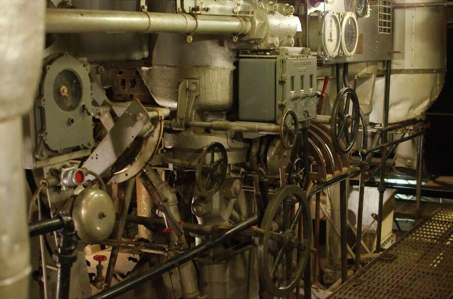 Engine gauges and controls are visible in the engine room that was recently added to tours of the Battleship Texas after repairs. Photo: Kirk Sides / Staff Photographer / © 2018 Kirk Sides / Houston Chronicle