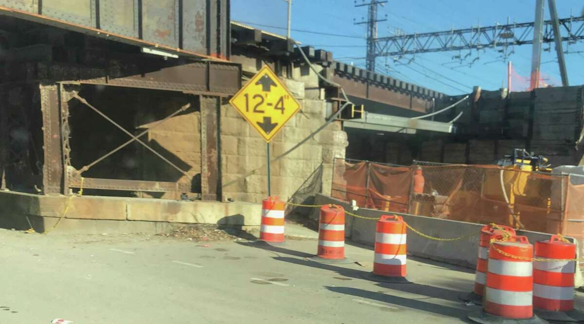 The Department of Transportation project to replace the Atlantic Street rail overpass is under way.