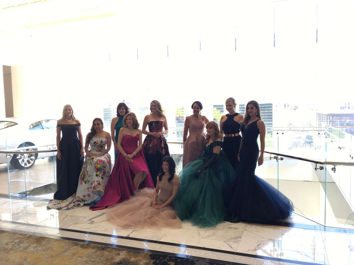 This year'sBest Dressedphoto shoot took place inside the Post Oak at Uptown's Rolls Royce dealership. The impeccably turned-out honorees wore gowns by Monique Lhuillier, Galvan and Zac Posen.