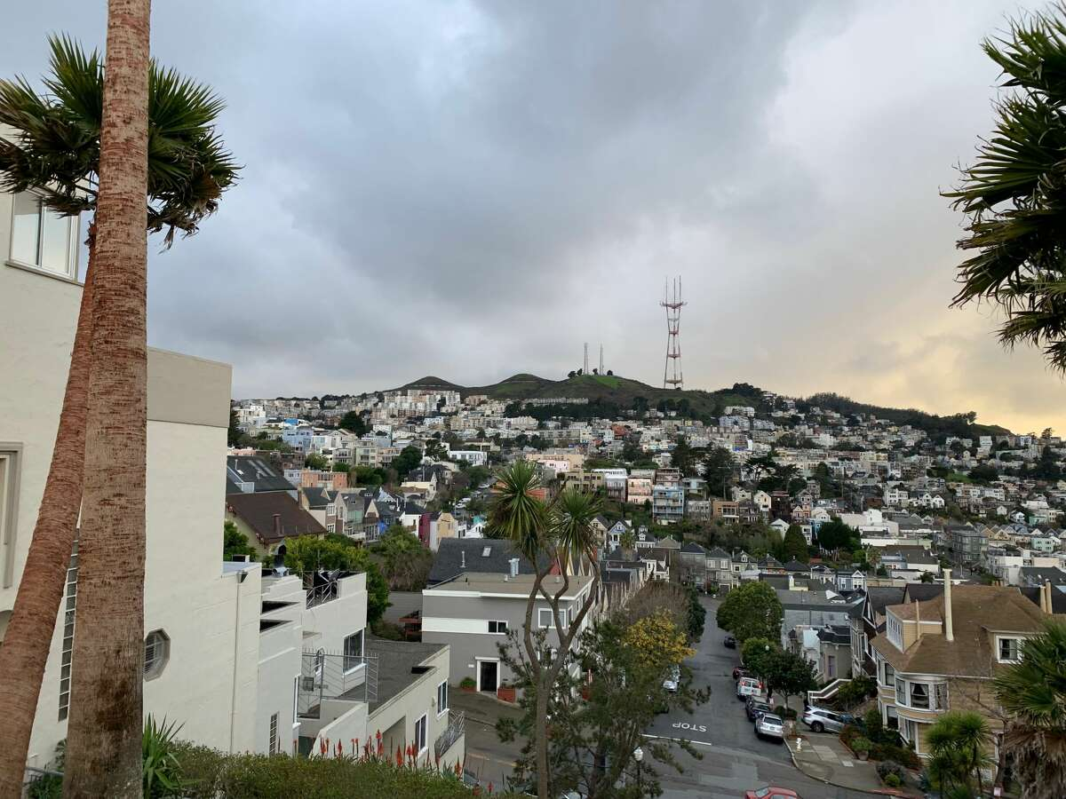 The calm before the storm: Twin Peaks in San Francisco before a cold system that could deliver snow to higher elevations slams into the city on Feb. 4, 2019.