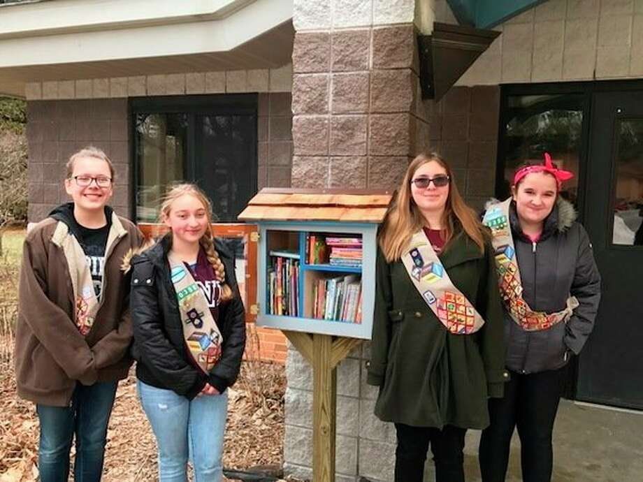 Meridian Girl Scout Troop 50350 members, from left, Jillian Todd, Bobbie Thielen, Kayla Funk and Madison Dougherty, have completed the requirements for their Silver Award, which is the second highest award in Girl Scouting. (Photo provided)