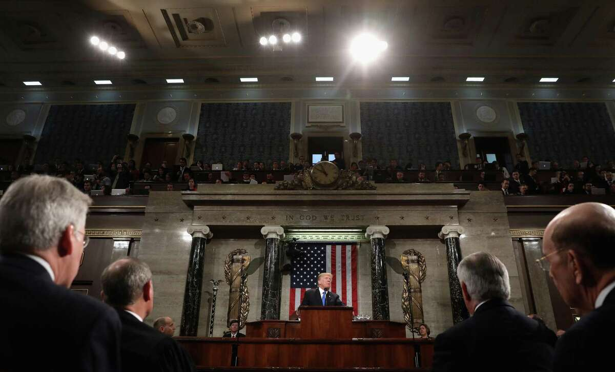 President Donald Trump delivers his first State of the Union address to a joint session of Congress at the Capitol in Washington, D.C., on Jan. 30, 2018. See which Houstonians will be invited to the State of the Union tonight >>>