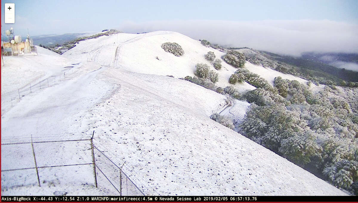 Big Rock Ridge in Marin County was coated with snow on Tuesday morning Feb. 5, 2019.