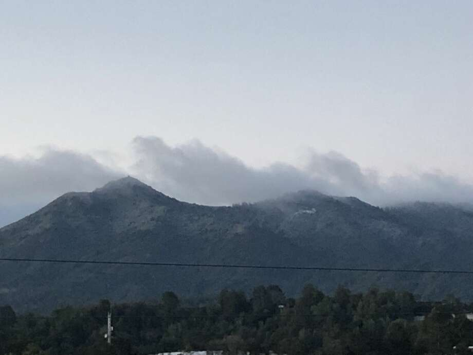 In this file photo, snow was visible on Mt. Tamalpais from San Rafael on Tuesday, February, 5, 2019. Photo: Christine Disbrow