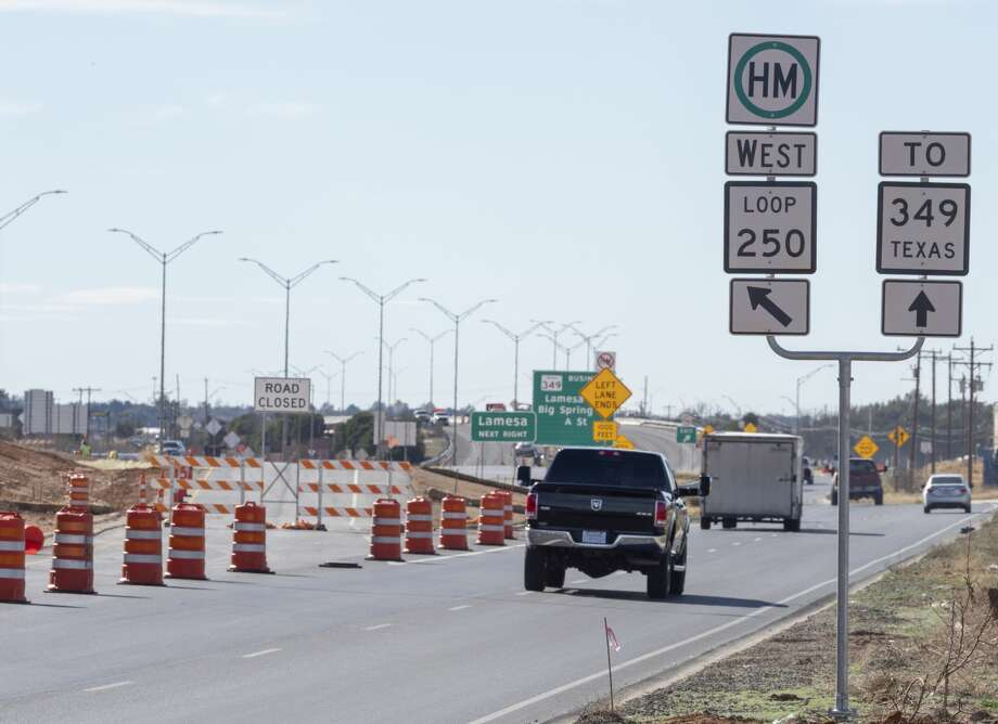 The entrance ramp to Loop 250 heading west from Fairgrounds Road is closed 02/05/19 as crews resurface the roadway. Tim Fischer/Reporter-Telegram Photo: Tim Fischer/Midland Reporter-Telegram