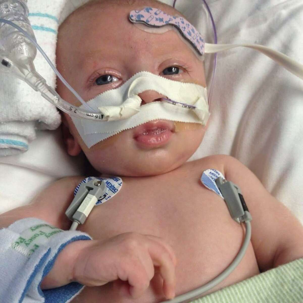 Jaxson Britt was born on Aug. 12 and since then, has remained at Texas Children's Hospital awaiting a heart transplant. A benefit is being held to cover medical expenses on Nov. 23.