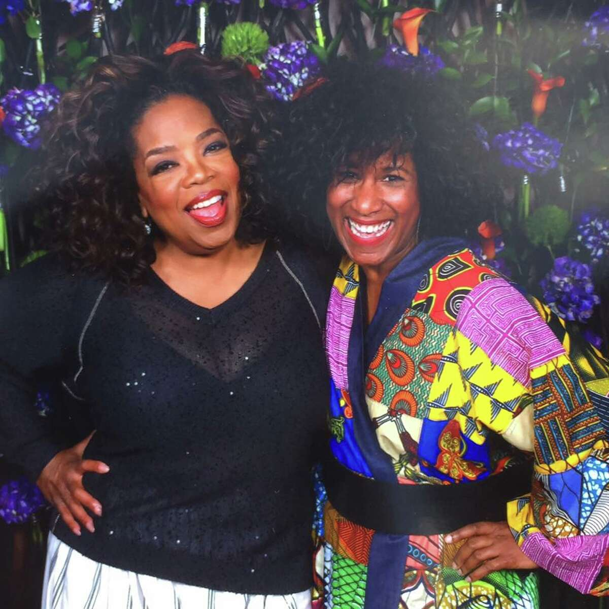 Oprah Winfrey and the Chronicle's Joy Sewing on the O, the Oprah Magazine's Girls' Getaway Cruise on Holland America Line.