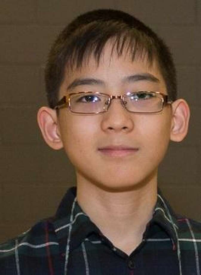 Eighth-grader Christopher Jin from League City Intermediate School won first place in the Clear Creek ISD Spelling Bee Photo: Clear Creek ISD / ©ClearCreekISD