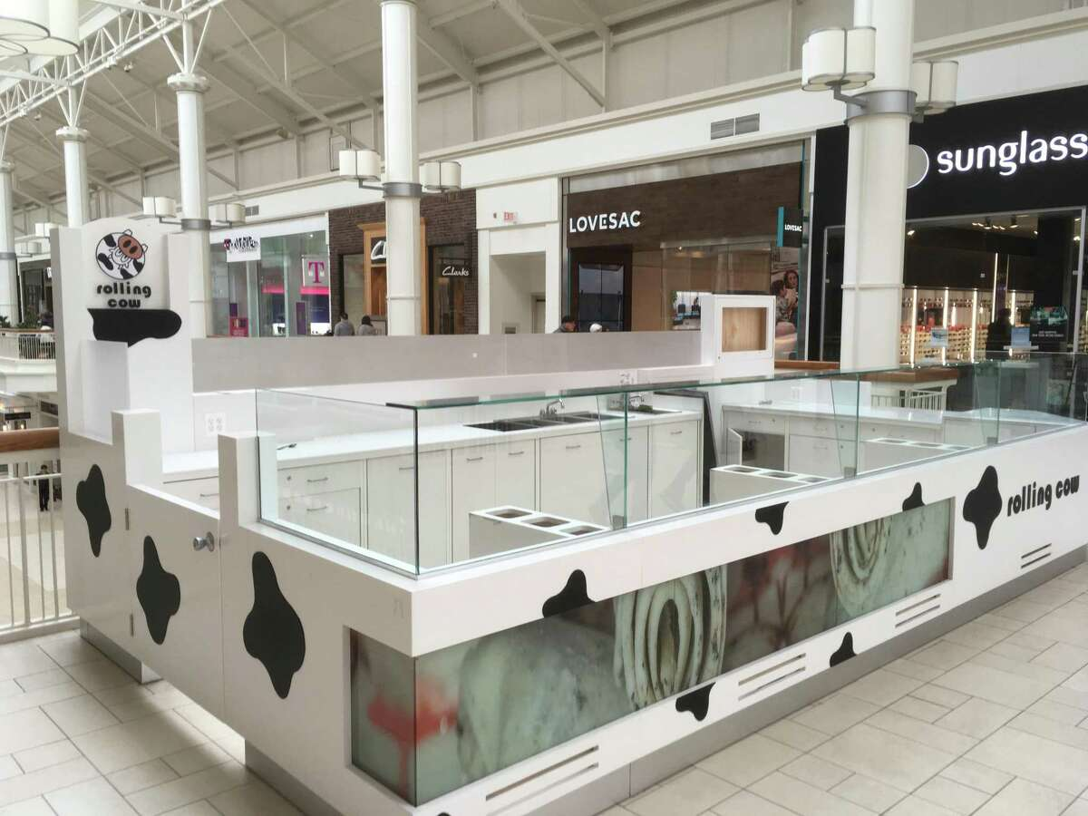 The former Rolling Cow ice cream counter at Danbury Fair mall in Danbury, Conn., which closed in early 2019 after having opened only the previous spring.