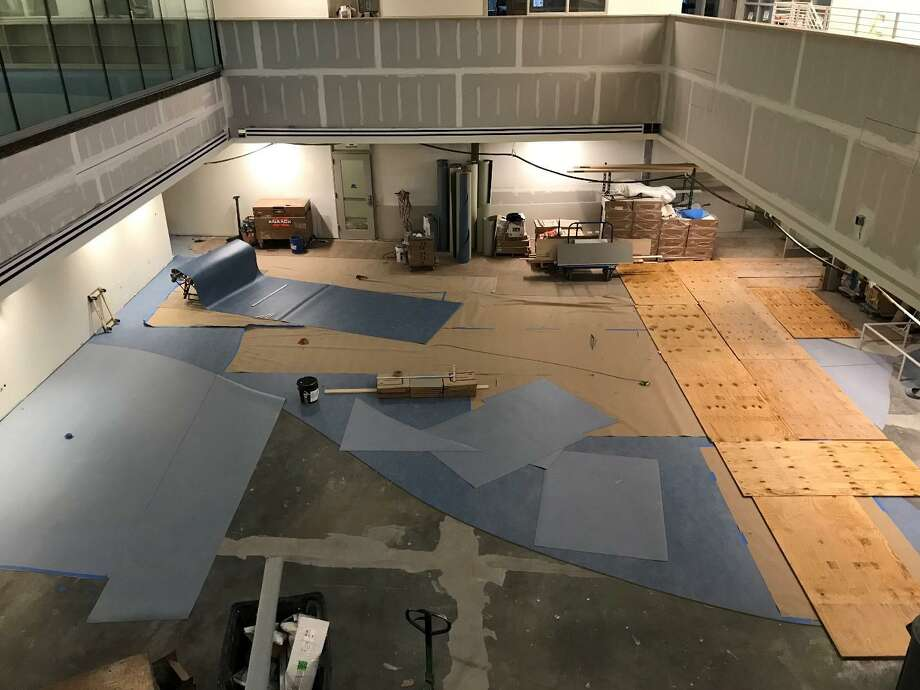 The new New Lebanon School building is in its final stages in preparation for opening day for students on Feb. 20. Final cleaning is ongoing, furniture is being delivered and installed, and classrooms will be packed up and moved over February break. The project has received its fourth reimbursement from the state, $3,495,815, totaling $15,738,167 to date. Photo: Contributed /