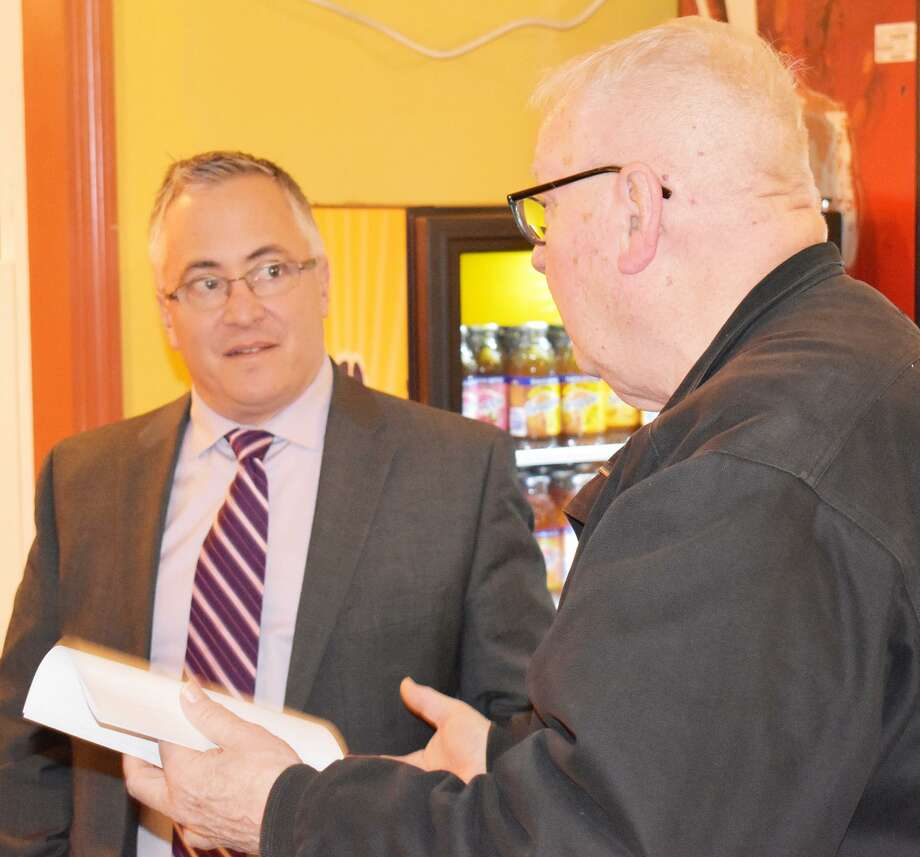 State Rep. Vincent Candelora, R-North Branford, cohosted the free event Jan. 16 at The Whole Enchilada in Durham. Lawmakers addressed local concerns from constituents, answered questions, and discussed the 2019 legislative session. Photo: Contributed Photo