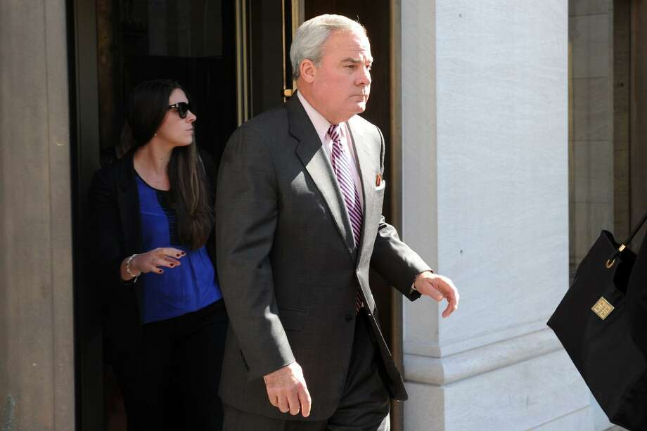 Former Gov. John G. Rowland was found guilty of felony violations of campaign laws in 2014. It was his second felony conviction, after pleading guilty to federal corruption charges in 2004. In 2001 he signed legislation to restore voting rights to tens of thousands of criminal offenders on probation. Photo: Ned Gerard / Ned Gerard / Connecticut Post