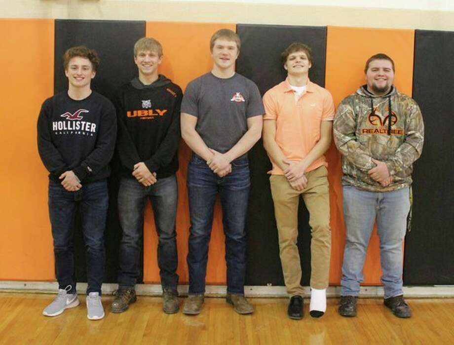 Ubly High School recently announced its 2019 Coming Home Court. Pictured (from left) are William Spicer, Nicholas Wright, Adam Weber, Ethan Lemke and Nathan Particka. Coming Home crowning will be prior to the varsity boy's game on Friday. The junior class will also be sponsoring a Mexican dinner from 5:30 to 7 p.m. in the multi-purpose room. (Submitted Photo)