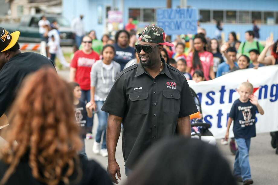 J-Mac, with 97.9 The Box, marches in the Black History Month Parade on Saturday, Feb. 13, 2016, in Conroe. Photo: Michael Minasi, Photographer