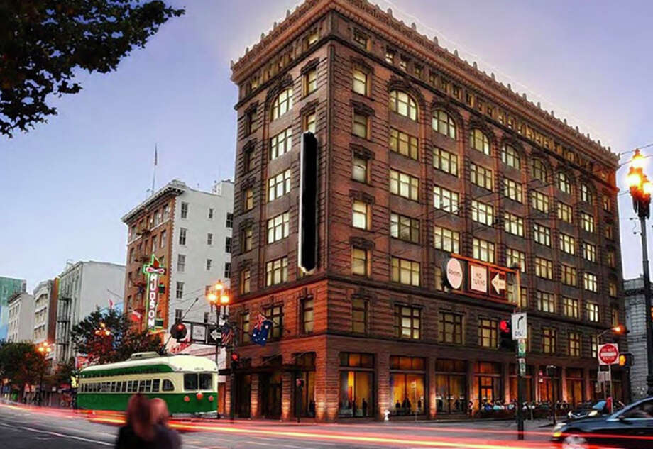 San Francisco's new Yotel is in the Grant Building, which survived the 1906 earthquake. It's located on a still somewhat sketchy corner on Market Street Photo: Yotel