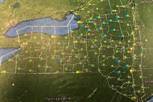 The NYS Mesonet consists of weather sensing stations that blanket the state in a grid-like pattern.
