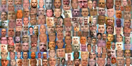 This collection of mug shots includes a portion of the 220 people who, since 1998, worked or volunteered in Southern Baptist churches and were convicted of or pleaded guilty to sex crimes. Click here to search the database on HoustonChronicle.com.