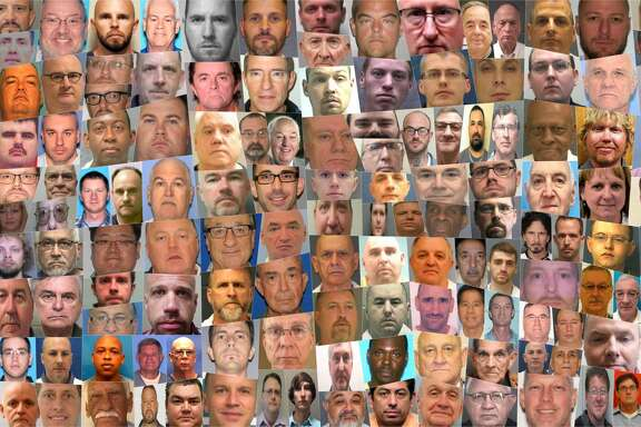 This collection of mug shots includes a portion of the 220 people who, since 1998, worked or volunteered in Southern Baptist churches and were convicted of or pleaded guilty to sex crimes.