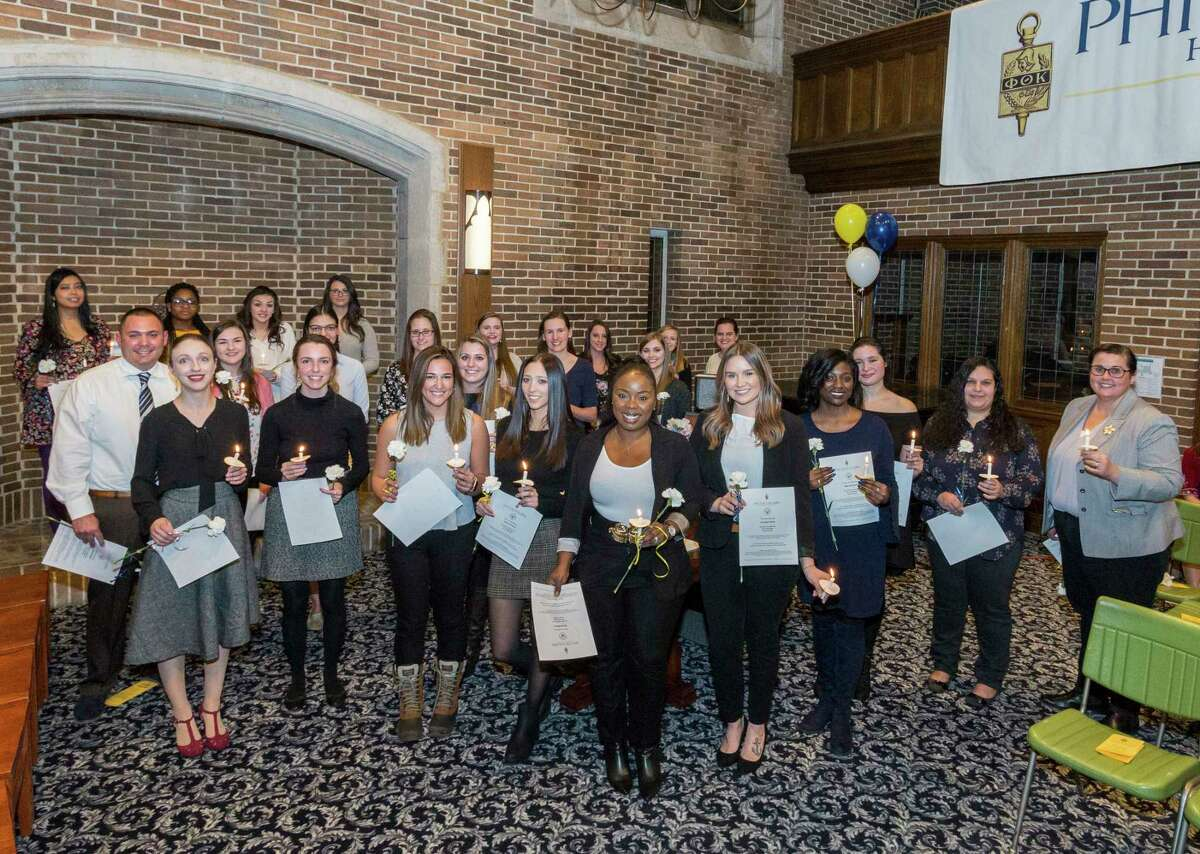 Maria College welcomed students into the Phi Theta Kappa Honor Society Beta Rho Kappa Chapter at an induction ceremony. Inductees were recognized for their academic achievement.