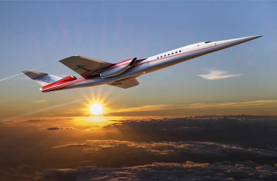 A rendering of the Aerion AS2 supersonic business jet. Keep clicking to see 100 years of Boeing aircraft... Photo: Courtesy Boeing