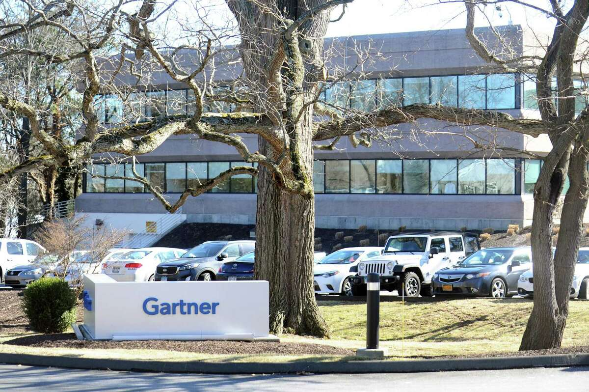 U.S. companies are paying less to help persuade employees to switch jobs, according to new research from IT consulting and research firm Gartner. The company is headquartered at these offices at 56 Top Gallant Road in Stamford, Conn.