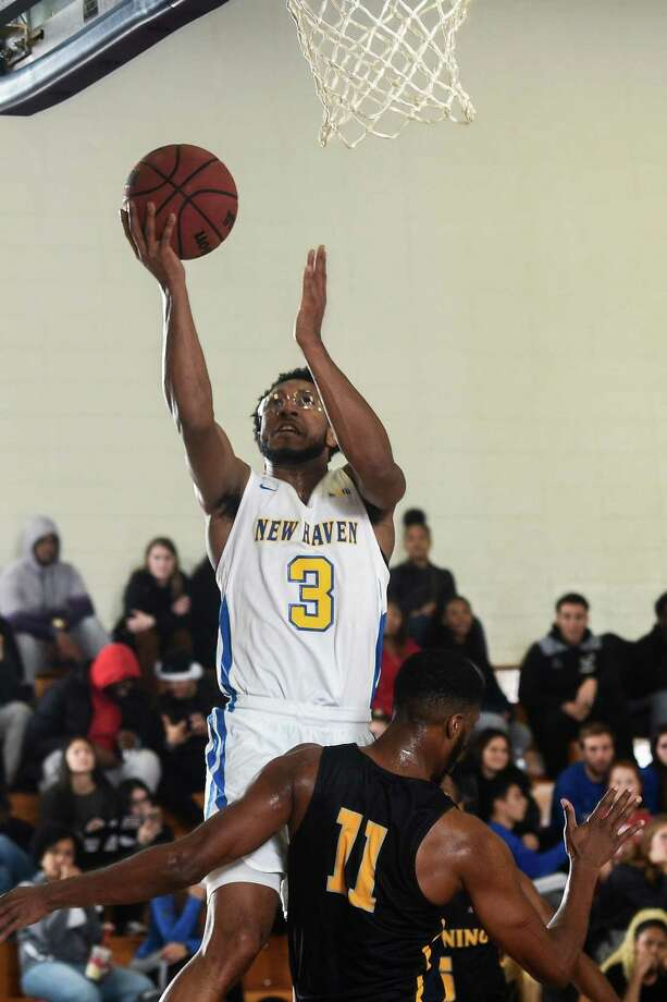 Leading scorer Elijah Bailey and the University of New Haven men's basketball team is in position to win Northeast-10 Southwest Division title on Tuesday. Photo: University Of New Haven Athletics / Greenwich Time Contributed
