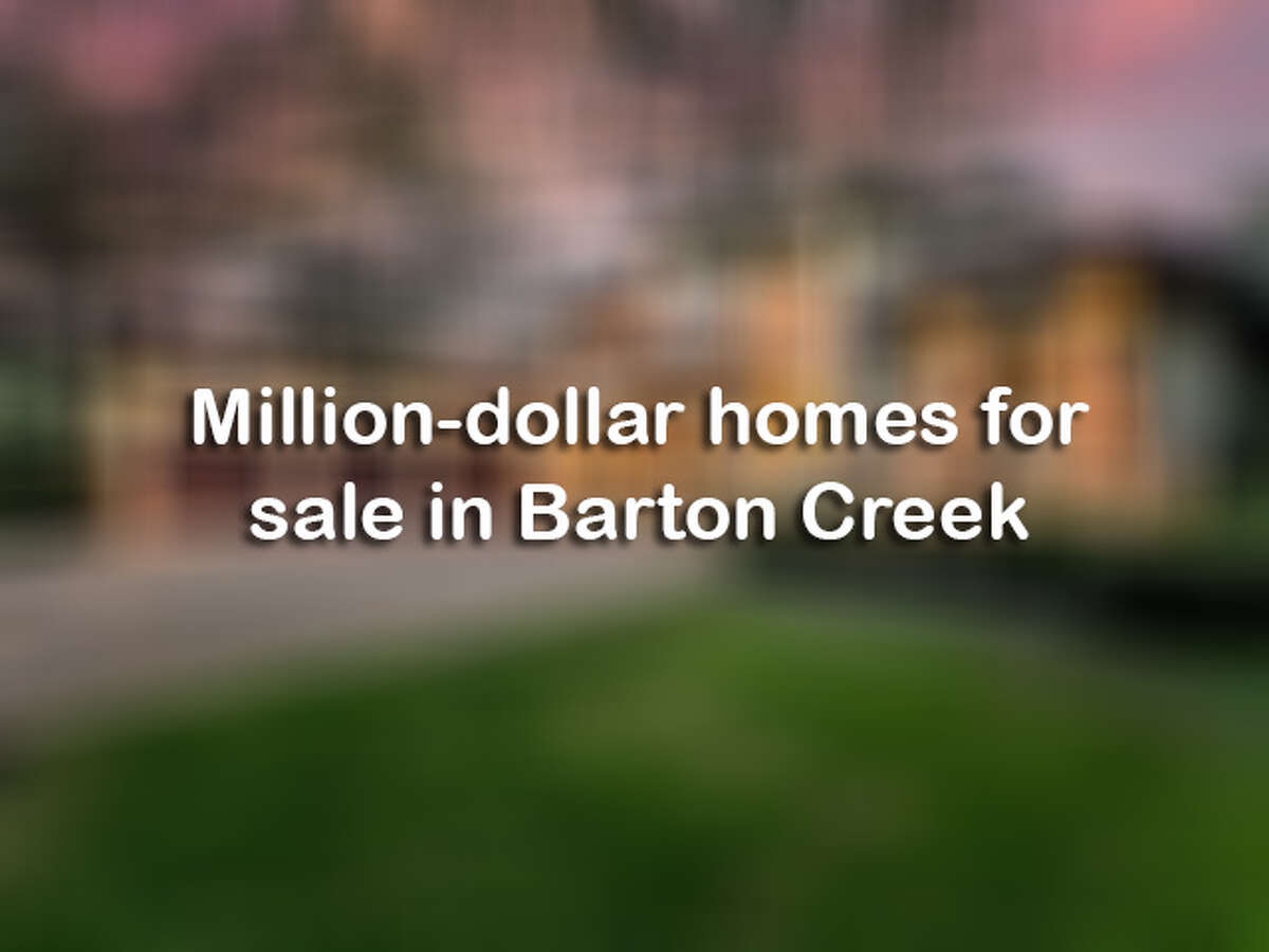 Click ahead to see million-dollar homes for sale in Barton Creek.