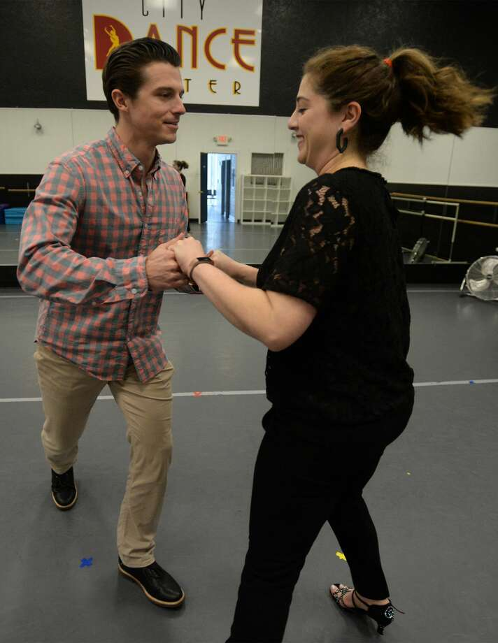 Tim Ferguson and Emily Wheeler rehearse their routine for the Junior League's Dancing with the Stars fundraiser. The couple have trained under JP Richards at City Dance Center since October for the March 1 event that will be held at the Civic Center.  Photo taken Tuesday, 2/5/19 Photo: Guiseppe Barranco/The Enterprise