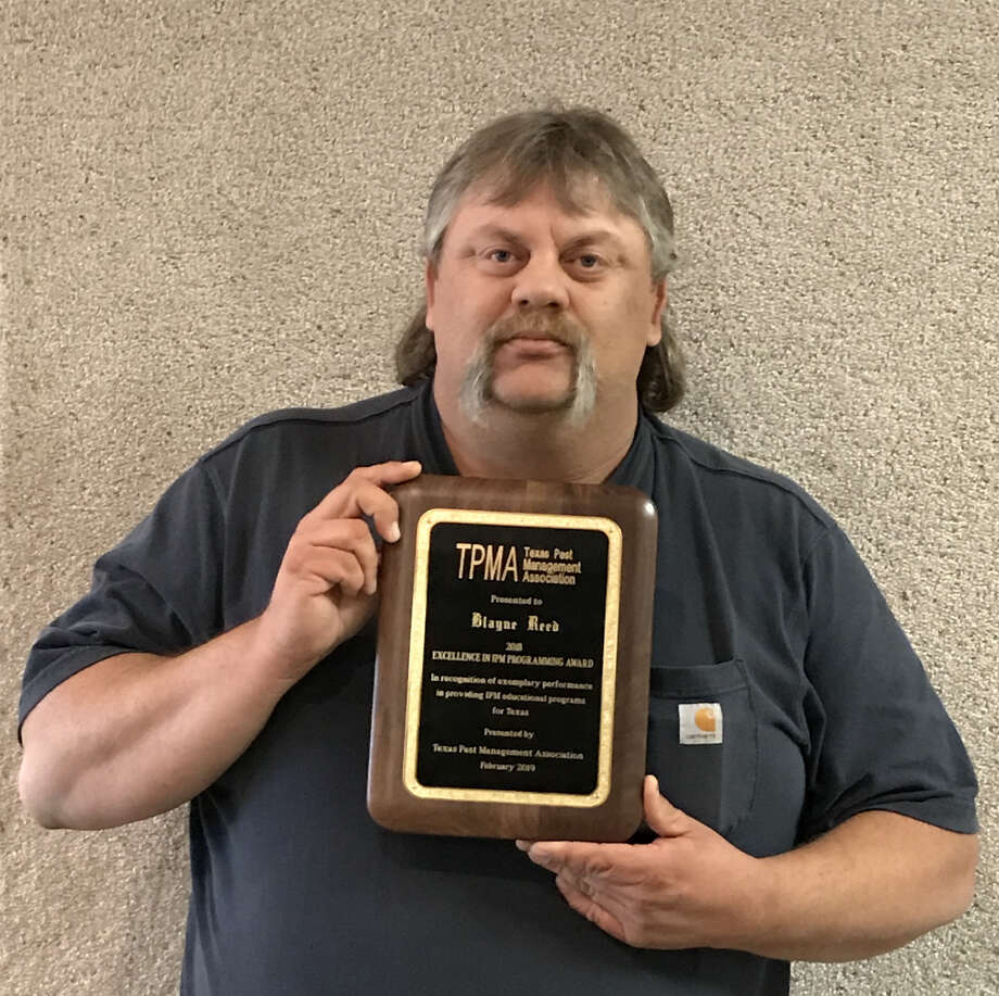 Blayne Reed, who serves Hale, Swisher and Floyd Counties as an Integrated Pest Management extension agent for the Texas A&M AgriLife Extension Service, was named the top IPM Agent in the state. Photo: Courtesy Photo/Cathy Banda, AgriLife Extension