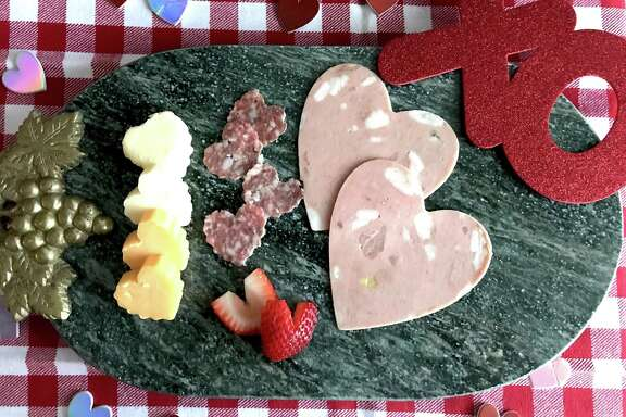 Heart-Shaped Charcuterie and Cheese Board