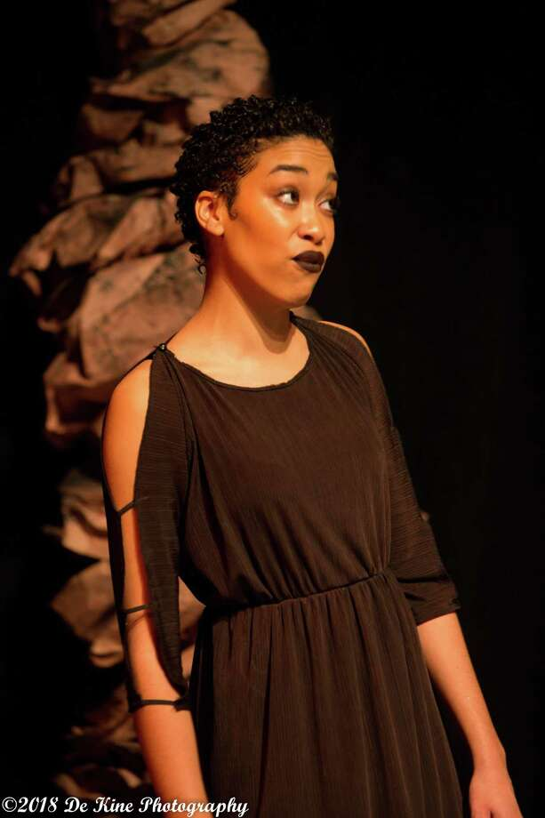 "Malenky Welsh performs in Oddfellows Teen Repertory's production of ""Antigone"" in December 2018. Photo: Bill De Kine  Contributed Photo / (c)DE KINE PHOTO LLC"
