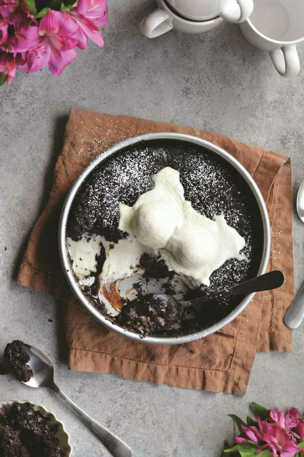Dark Chocolate-Peanut Butter Cobbler Photo: Beth Branch,  Courtesy Of Globe Pequot Press /